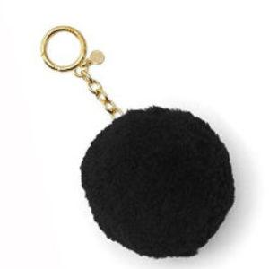 Michael Kors Shearling Pom Pom Key Charm